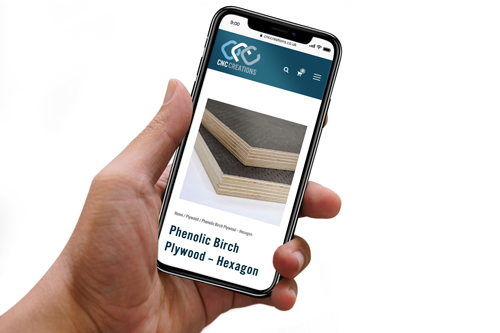 Man Holding a Mobile Phone displaying a Responsive Ecommerce Website Design