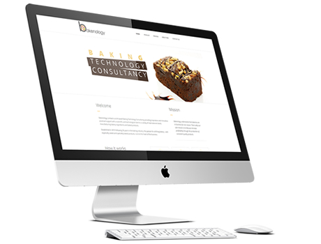 a picture of an iMac showing the Bakenology Blends website by Pinnacle Creative Website Design Agency