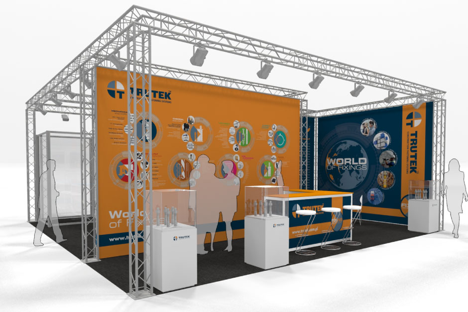GADR Lighting Gantry Exhibition Stand Design for multiple brands on one stand space