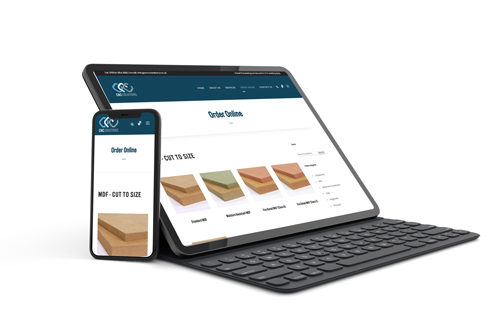 Mock-Up of a Microsoft Surface Tablet and Phone Showing Responsive Website